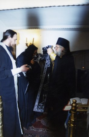 Постриг в Великую Схиму монахини Николаи (Гроян Т.И.)  2/15 ноября 2002 года